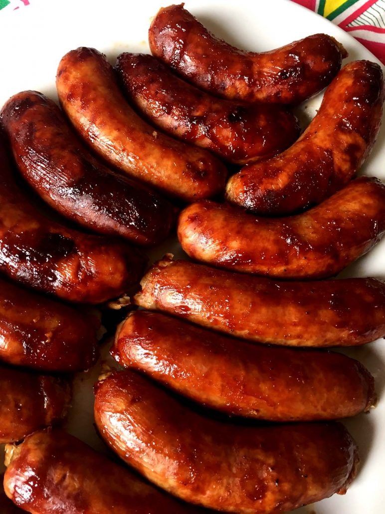 BBQ Baked Italian Or Polish Sausages