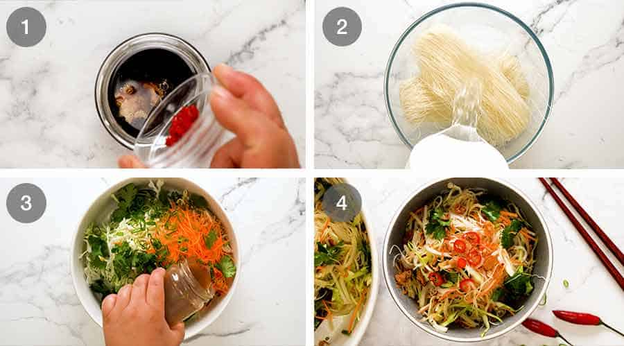 How to make Vermicelli Noodle Salad